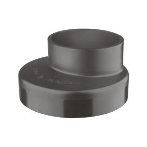 联塑偏心异径接头HDPE同层排水管件黑色dn125×90