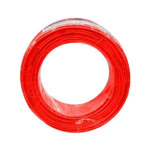 联塑 铜芯单塑多股电线 BVR 1平方 红色 100M