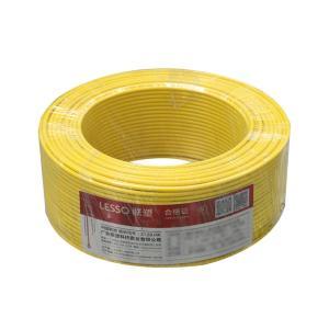 联塑 铜芯单塑多股电线 BVR 1平方 黄色 100M