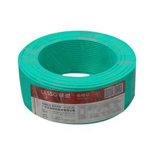 联塑 铜芯单塑多股电线 BVR 1平方 绿色 100M