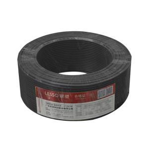 联塑 铜芯单塑多股电线 BVR 1平方 黑色 100M