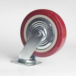 丰顺 重型平底活动 4寸 方边枣红色 配铁盖