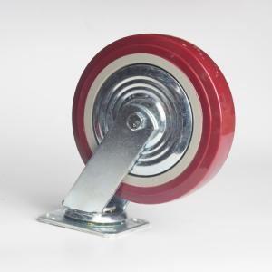 丰顺 重型平底活动 6寸 方边枣红色 配铁盖