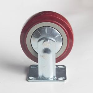 丰顺 重型固定 6寸 方边枣红色 配铁盖