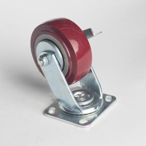 丰顺 重型平底边刹 4寸 方边枣红色 配铁盖