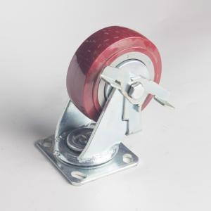 丰顺 重型平底边刹 6寸 方边枣红色 配铁盖