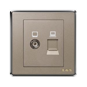 聯塑電氣 電視、電腦插座 PZN01/TV