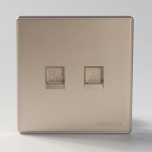 斯恩克電話 電腦插座 電話線網線網絡插座 86型暗裝墻壁開關面板