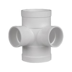 联塑PVC排水管配件 四通 平面等径四通 顺水四通 45度等径四通