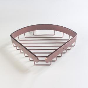 卡貝衛生間置物架太空鋁單層三角籃衛浴三角架浴室掛架網籃置物架
