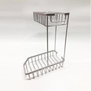 全銅實心角架衛浴置物架單層 淋浴房小網籃