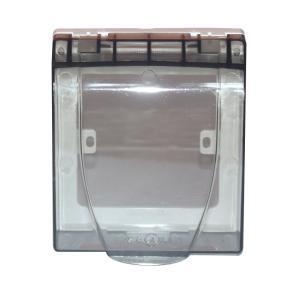 贵丽 插座防溅盒(单合) 透明