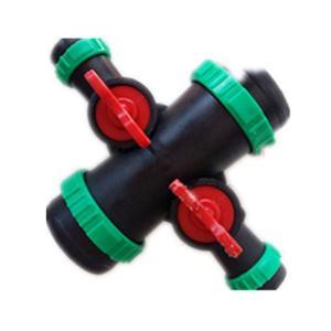 优质 喷带球阀 小四通2寸* 1.2寸