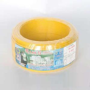 汾江 阻燃铜芯双塑单股线 ZR-BVV16mm 黄色 100M