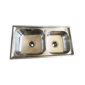优质 不锈钢水槽 双斗大焊头 7843*1.3