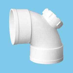 祥塑 PVC-U排水配件 90°弯头(带检查口)dn50