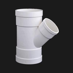 双燕 PVC-U排水配件 异径斜三通 dn200*110