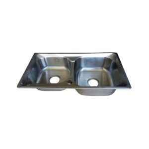 优质 不锈钢水槽 双斗 7540*1.2 双大斜边
