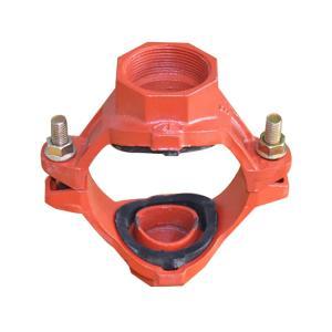 优质 沟槽丝接机械四通 dn125*65