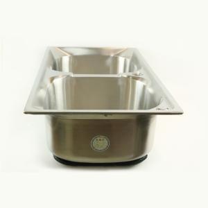优质 高级不锈钢双洗菜盆 75*41