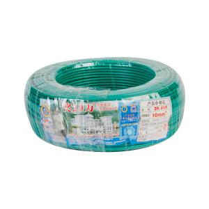 汾江 广东珠江电线电缆 ZR-BVR 1X10 绿色 100M