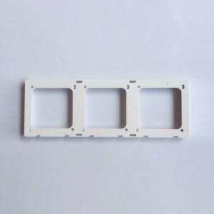 美尚 I6白色 暗装开关 三位联体框组件