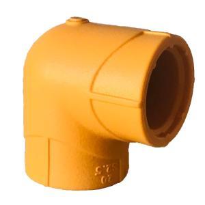 联塑 90°弯头(纳米系列PP-R配件)桔黄色 dn20