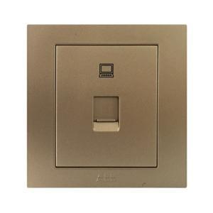 ABB 永致 一位八芯数据插座 AH331-PG (金色)