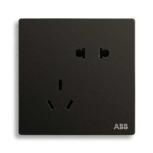 ABB 轩致 二位中标二三极插座 AF205-885 (黑色)