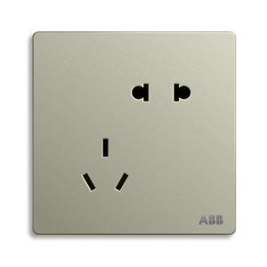 ABB 轩致 二位中标二三级插座 AF205-CS (银色)