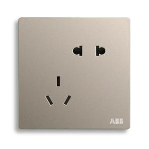 ABB 轩致 二位中标二三极插座 10A AF205-PG(金色)