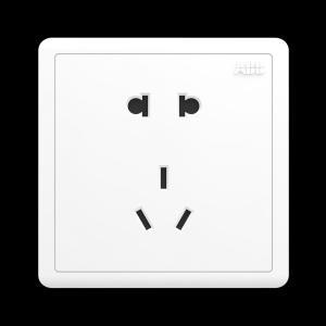 ABB 明致 二位二三级插座10A AQ205 (白色)