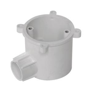 联塑 暗装灯头深型圆接线盒(单通)PVC电工套管配件白色 65×65/1/Φ16/65