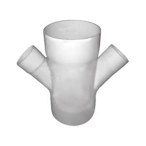 联塑 45°焊接异径斜四通PVC-U排水配件白色 dn200×75