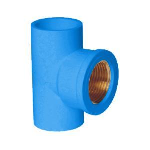 """联塑 铜内丝三通(PVC-U给水配件) 蓝色 dn20XRC1/2"""""""