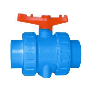 联塑 双活接式球阀(PVC-U给水配件) 蓝色 dn20