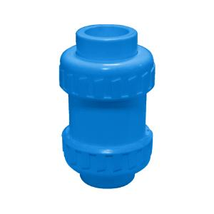 联塑 立式球型 (双活接)止回阀 (PVC-U给水配件)蓝色 dn63
