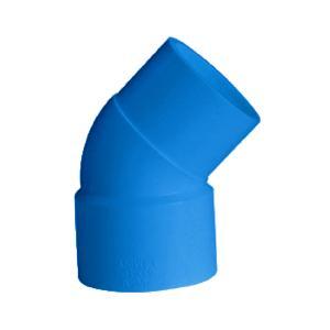 联塑 45°单承插弯头(PVC-U给水配件)蓝色 DN110