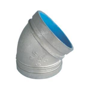 联塑 45°弯头(沟槽式)涂塑(PE)钢塑复合管件(冷水用) dn150
