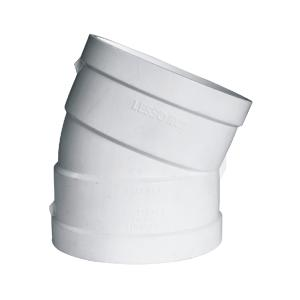 联塑 22.5°偏置弯头PVC-U消音速流单立管排水配件白色 dn110