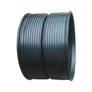 联塑 套筒HDPE双壁波纹管配件(PE注塑件)黑色 dn400
