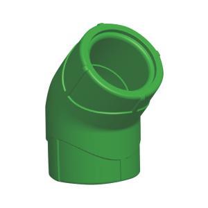 联塑 45°弯头(精品家装管PP-R配件)绿色 dn20
