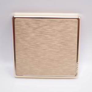 博坚 A8系列 (暗装) 安装盖板 白板 金色