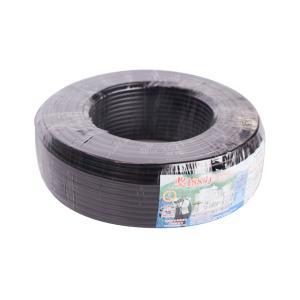 汾江 广东珠江电线电缆 ZR-RVV 2X0.75 黑色 100M
