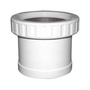联塑 螺纹伸缩节PVC-U排水配件白色 dn75