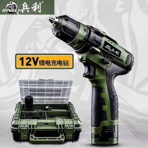 兵利 锂电钻(12V) 两电一充